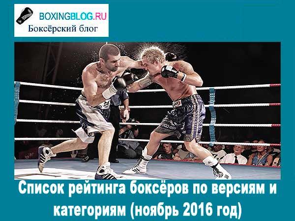 самые рейтинговые боксеры 2015-2016 года